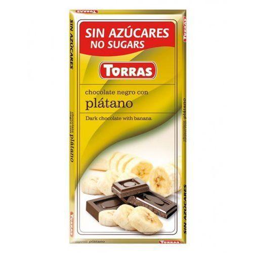Czekolada gorzka z bananami bez cukru 75g - Torras (8410342006011)