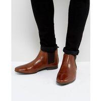 River island leather chelsea boot in tan - tan