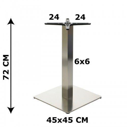 Podstawa stolika 45x45, stal nierdzewna szczotkowana( stelaż stolika) - e78/45/s/6x6/24x24 marki Stema - od