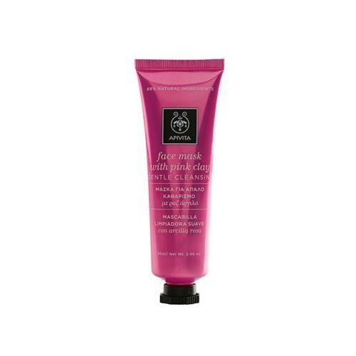 express beauty pink clay delikatnie oczyszczająca maseczka do twarzy 50 ml marki Apivita