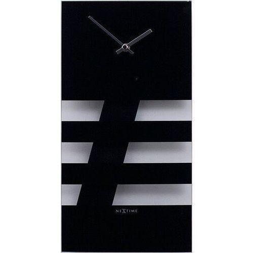 Nextime Zegar ścienny bold stripes czarny (8717713000501)