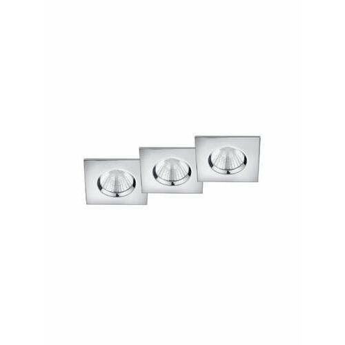 Trio Zagros 650610306 oczko komplet 3 sztuki IP65 3x5,5W LED 3000K chrom, 650610306