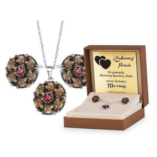 Srebrny Komplet Zestaw Biżuterii 925 z GRAWEREM YS16