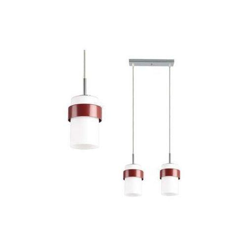 LAMPA wisząca MIELE LP-866/2P BORDO Light Prestige OPRAWA zwis tuby białe bordo, LP-866/2P CZER