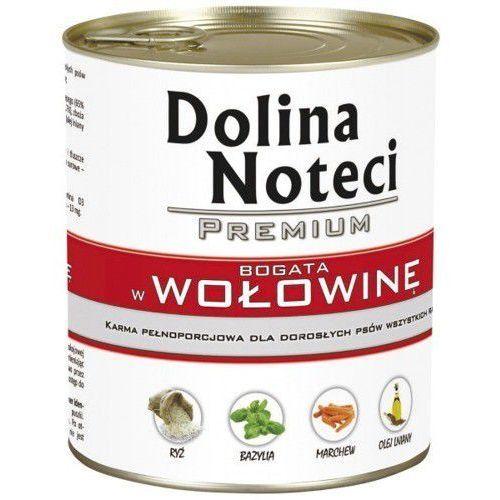 Dolina Noteci Premium karma dla psa WOŁOWINA puszka 400g/800g