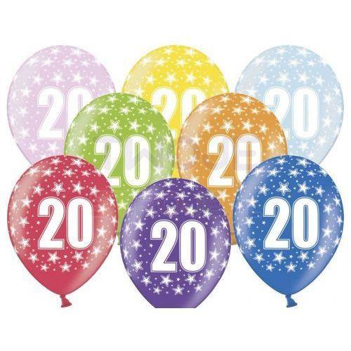 Twojestroje.pl Balon lateksowy 20th birthday 30 cm 1 szt.