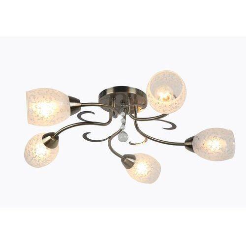 Plafon lampa sufitowa crissy 5x60w e14 patyna / biały 615805-04 marki Reality