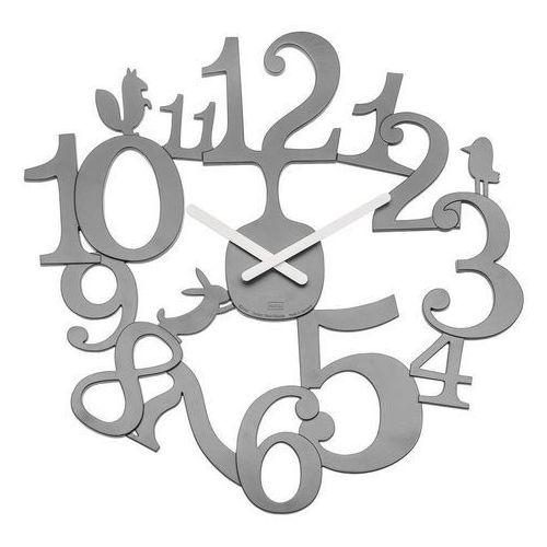 Koziol - zegar ścienny PI:P - szary - szary, kolor szary