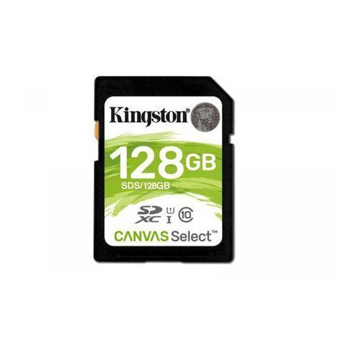 Kingston sd 128gb canvas select 80/10mb/s (sds/128gb) >> bogata oferta - szybka wysyłka - promocje - darmowy transport od 99 zł!