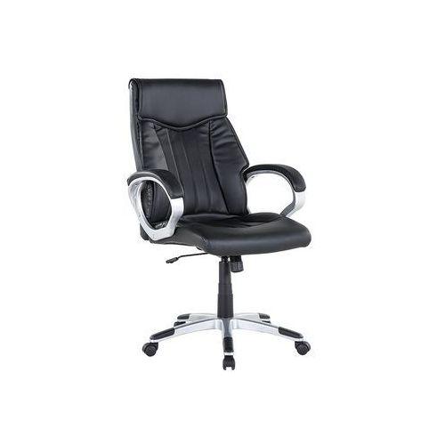Beliani Krzesło biurowe czarne regulowana wysokość triumph (7081456666111)
