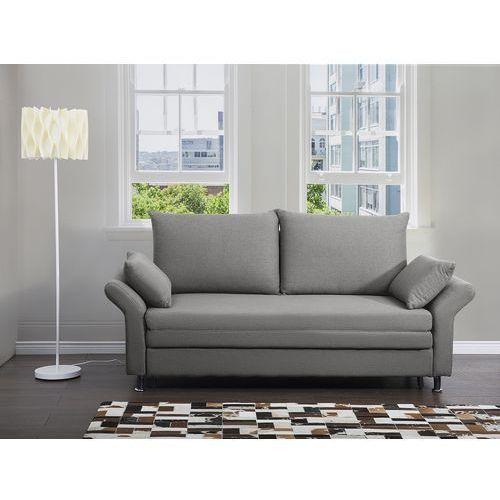 Sofa do spania szara - kanapa - rozkładana - wypoczynek - exeter marki Beliani