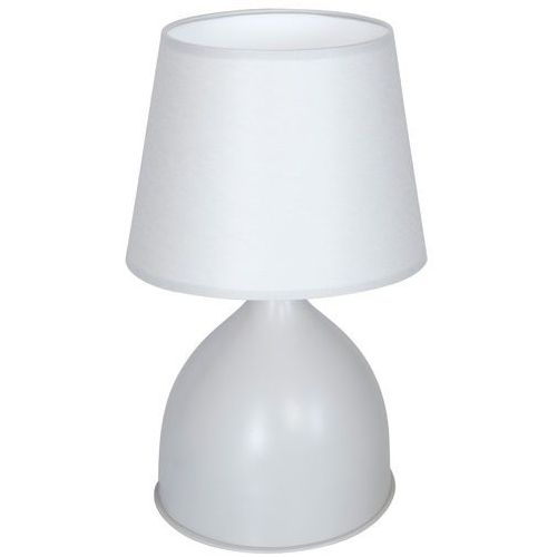 Luminex Lampka biurkowa table lamps 8429 lampa stołowa nocna 1x60w e27 szara / biała (5907565984293)