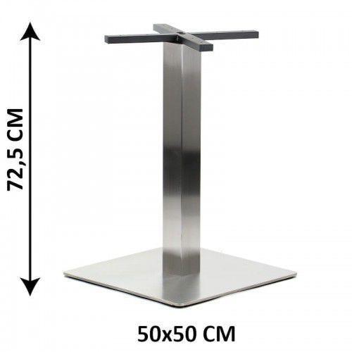 Podstawa stolika SH-3002-6/S, 50x50 cm, stal nierdzewna szczotkowana (stelaż stolika)