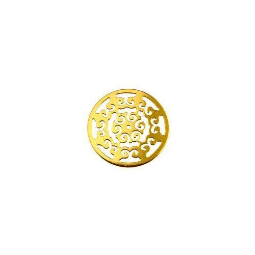 Ażurowa rozetka łącznik, złoto próba 585 bl 96-au marki 925.pl