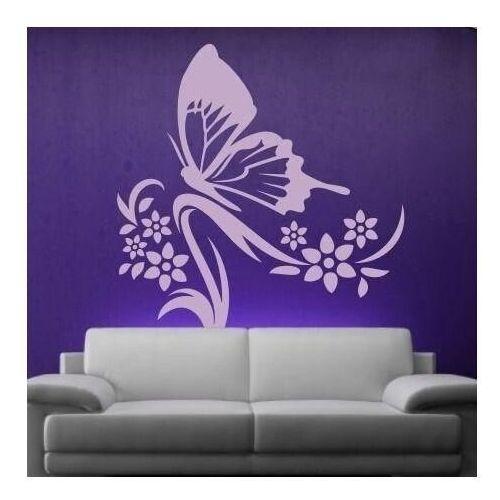 naklejka motyl w kwiatach 1249