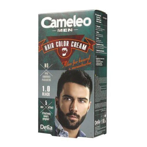 Delia cosmetics cameleo men farba do włosów odcień 1.0 black 30 ml
