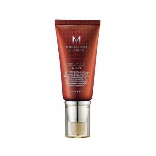 m perfect cover (w) krem bb do twarzy spf42 no.21 light beige 50ml marki Missha