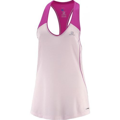 Salomon elevate tank tunic w pink dogwo/rose vio m