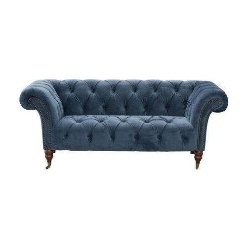 Dekoria Sofa Chesterfield Glamour Velvet Midnight 2-os., 187 × 94 × 75 cm