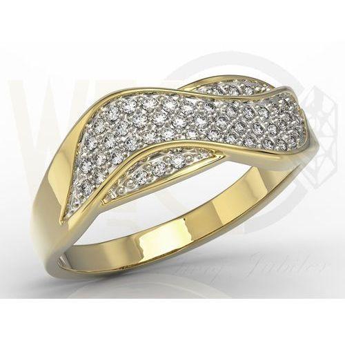 Węc - twój jubiler Pierścionek z żółtego złota z brylantami model ap-7924z-r, 0,24ct h/si