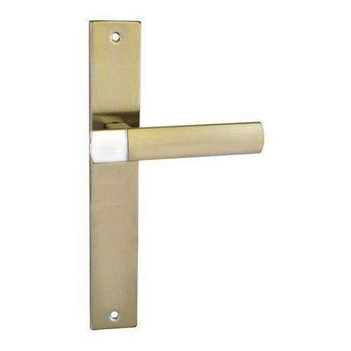 Klamka drzwiowa Schaffner Gold bez przebicia nikiel satyna/chrom (5907467741475)