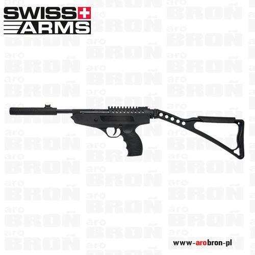 Cyber gun Pistolet wiatrówka cybergun swiss arms mod fire 4,5 mm (288029) - łamany, śrut diabolo, kolba dostawna, szyna 22mm