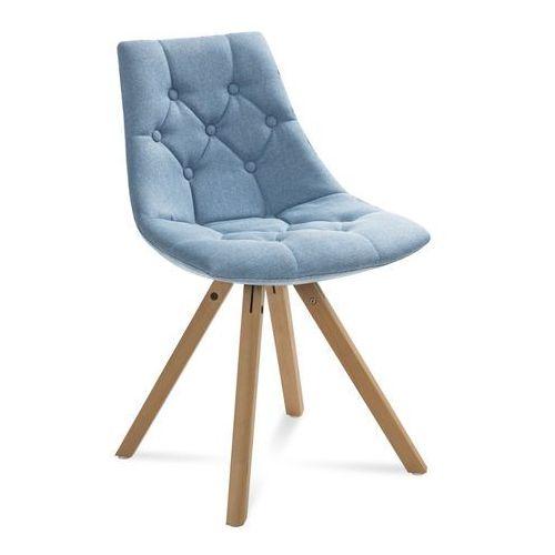 """Krzesło """"LEO"""" niebieskie, kolor niebieski"""