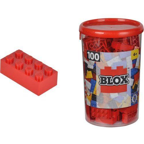 SIMBA Blox 100 Klocki w pojemniku – czerwone