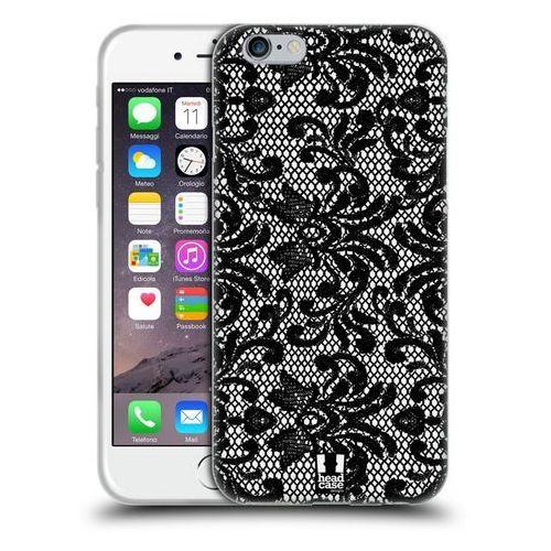 Head case Etui silikonowe na telefon - black lace damask