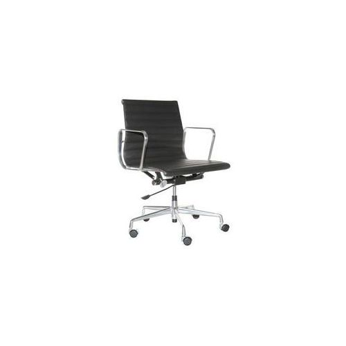 Fotel biurowy CH1171T czarna skóra,chrom (5902385713061)