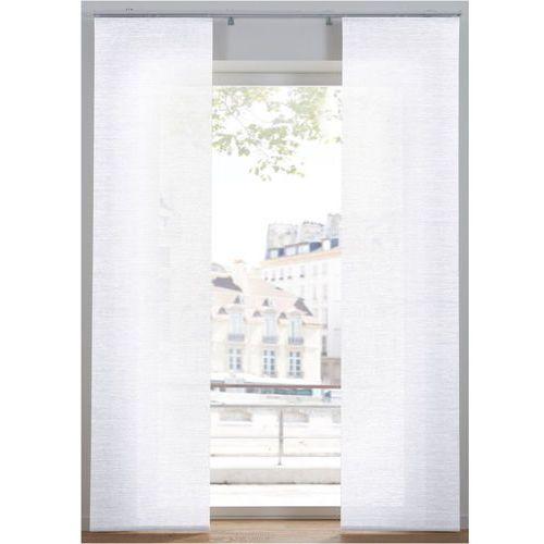 Bonprix Nieprześwitująca zasłona panelowa w strukturalny wzór (1 szt.) biały