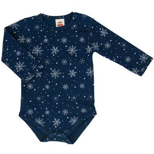 Makoma dziewczęce body snowflake 62 niebieski (5908221091744)