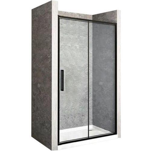 Rea drzwi prysznicowe składane rapid fold, czarne profile 70 cm z powłoką easy clean (5902557342501)