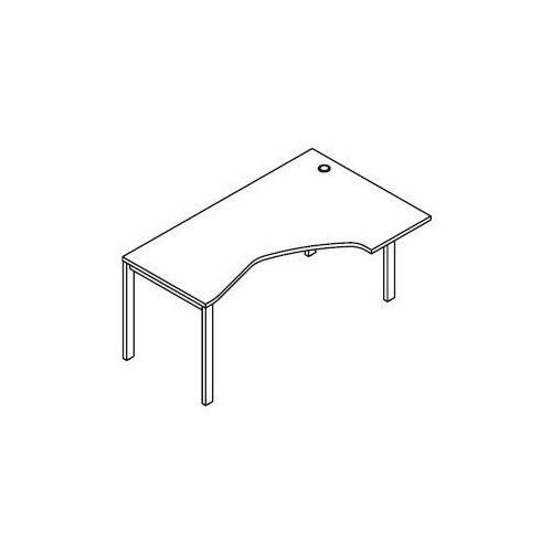 Biurko kątowe BSA47 wymiary: 160x100(70)x75,8 cm