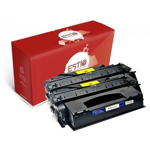 Estio Dwupak tonerów do hewlett-packard (hp) laserjet p2014, p2015dn, m2727nf, p2012n q7553xd e-t53xd