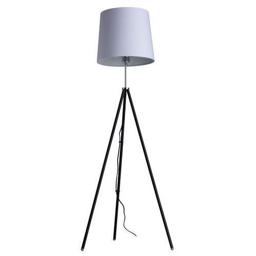 Lampa podłogowa na czarnym trójnogu, biały abażur megapolis (446041401) marki Mw-light
