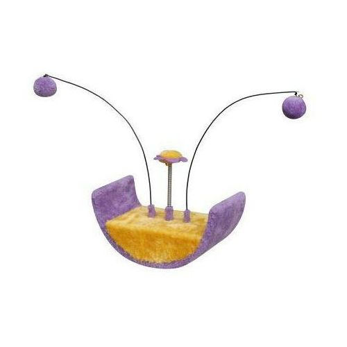 drapak dla kota mini-półkole z wędkami fioletowo-żółte marki Yarro