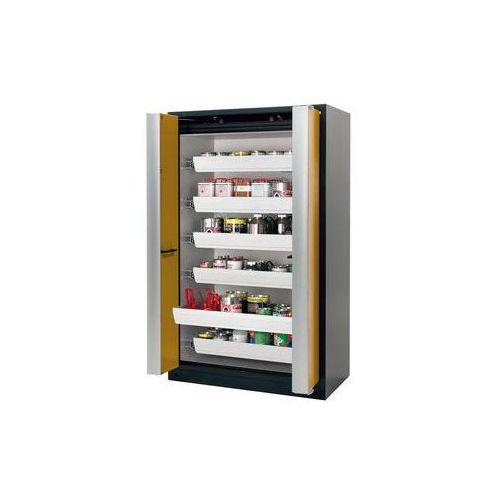 Szafa z drzwiami harmonijkowymi Q-PHOENIX-90,z 6 szufladami