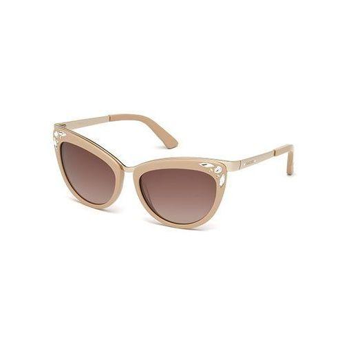 Okulary Słoneczne Swarovski SK 0102 72F, kolor żółty