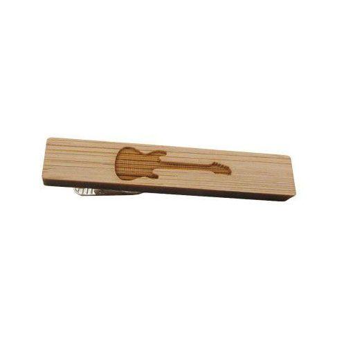 Spinka do krawata drewniana GITARA, kolor brązowy