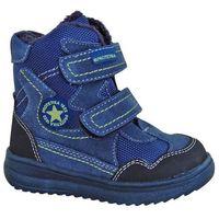 Protetika buty zimowe za kostkę chłopięce riki 24 niebieski