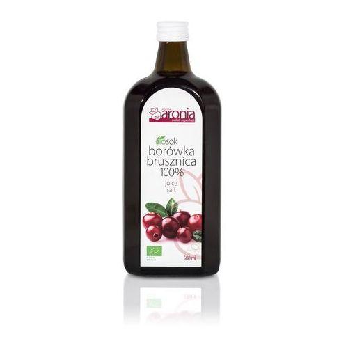 Polska aronia (soki) Sok z borówki brusznicy 100 % bio 500 ml - polska aronia (5901854740348)