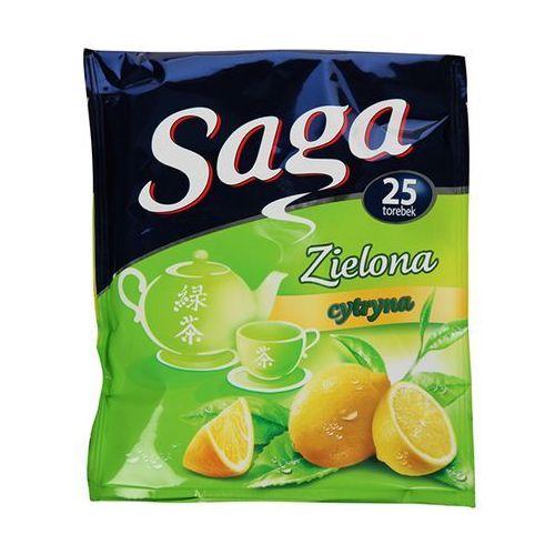 25x1,3g herbata zielona z cytryną ekspresowa marki Saga