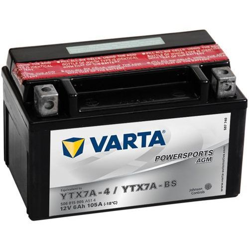 Varta akumulator motocyklowy powersports agm ytx7a-4 / ytx7a-bs (4016987127360)