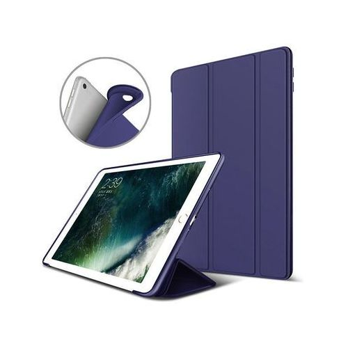 Alogy Etui smart case apple ipad air 2 silikon granatowe + szkło - granatowy