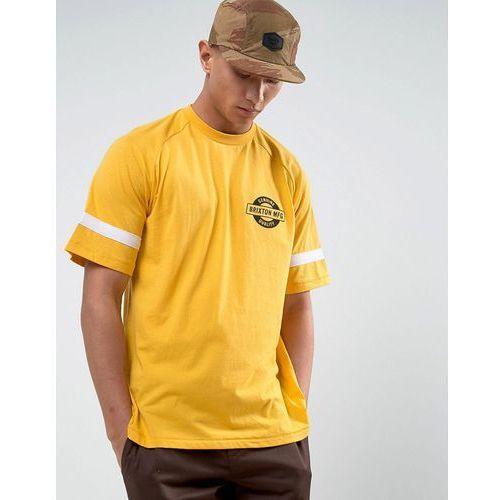 raglan t-shirt with small logo - yellow marki Brixton