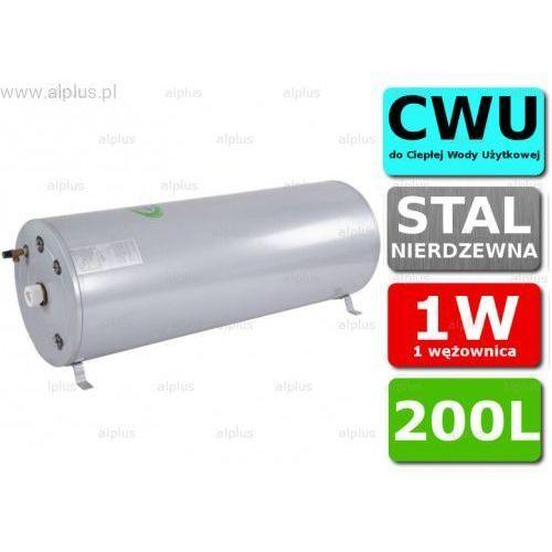 Bojler JOULE Cyclone 200L poziomy 1W 1-wężownica nierdzewka wymiennik podgrzewacz CWU Wysyłka GRATIS, TCPMHI-0200NFC
