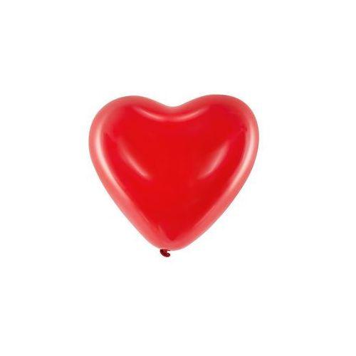 Party deco Baloniki czerwone serca bardzo duże - 40 cm - 100 szt.