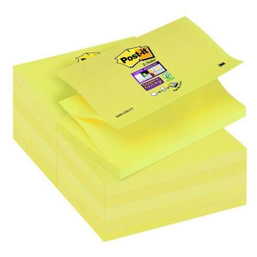 Bloczek samop. post-it® super sticky z-notes (r350-12ss-cy), 127x76mm, 90 kart., żółty marki 3m