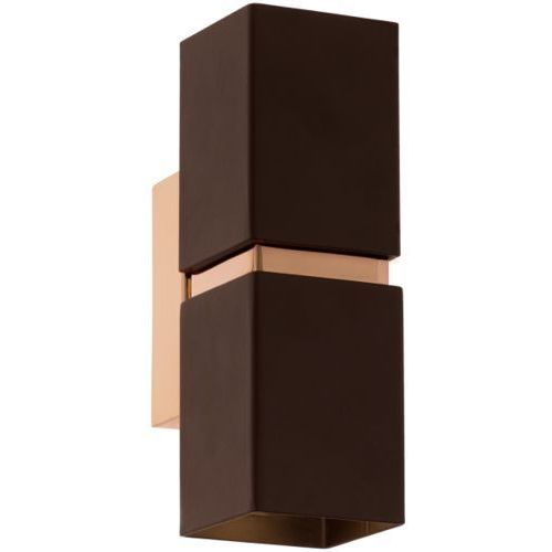 Kinkiet passa led prostokątny brązowy, 95379 marki Eglo